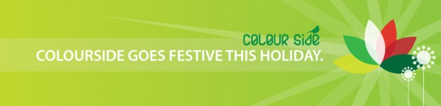 Colourside goes festive this holiday